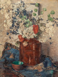 American:Still Life, MARGARET ALEXINA FULTON SPENCER (American, 1882-1966). FloralStill Life. Oil on canvas. 23-1/2 x 17-1/2 inches (59.7 x ...