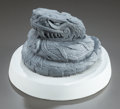 Fine Art - Sculpture, American:Modern (1900 - 1949), Robert Graham (American, 1938-2008). Serpent. Plaster. 3-1/2x 4-3/4 inches (8.9 x 12.1 cm). Inscribed and signed on bas...