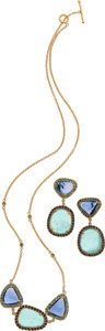 Estate Jewelry:Suites, Yossi Harari Tourmaline, Sapphire, Gold Jewelry Suite. ... (Total: 2 Items)