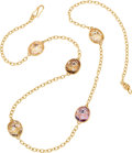 Estate Jewelry:Necklaces, Pomellato Quartz, Gold Necklace. ...
