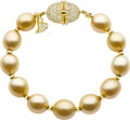 Estate Jewelry:Bracelets, Henry Dunay South Sea Cultured Pearl, Diamond, Gold Bracelet. ...