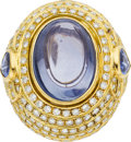 Estate Jewelry:Rings, Sabbadini Diamond, Sapphire, Gold Ring. ...