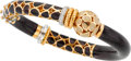 Estate Jewelry:Bracelets, La Nouvelle Bague Diamond, Enamel, Gold Bracelet. ...