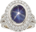 Estate Jewelry:Rings, Jack Kelége Burma Star Sapphire, Diamond, Platinum Ring. ...