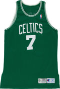 Basketball Collectibles:Uniforms, 1995-96 Dee Brown Game Worn Boston Celtics Jersey. ...