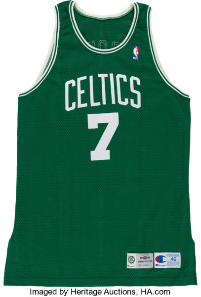 huge selection of 77b3c a8c9a 1995-96 Dee Brown Game Worn Boston Celtics Jersey ...