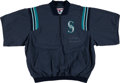 Baseball Collectibles:Uniforms, 2000 Alex Rodriguez Game Worn Signed Seattle Mariners Warm-Up Jacket....