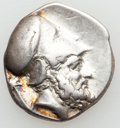 Ancients:Greek, Ancients: LUCANIA. Metapontum. Ca. Late Fourth Century BC. ARstater (7.72 gm)....