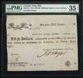 World Paper Money: , Quebec, LC- $10/50s/10 Piastres Army Bill January 1815 . ...