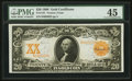 Large Size:Gold Certificates, Fr. 1181 $20 1906 Gold Certificate PMG Choice Extremely Fine 45.. ...