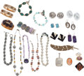 Jewelry, A GROUP OF MISCELLANEOUS GEMSTONE, SHELL, GLASS, SILVER, GOLD & COSTUME JEWELRY. The lot consists of hundreds of pieces, inc...