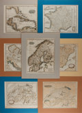Miscellaneous:Maps, [Maps.] Group of Seven Steel Engraved Maps. Various publishers,various dates. Tipped in and matted. Average size measures 1...