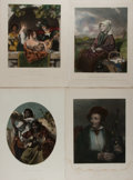 Art:Illustration Art - Mainstream, [Lithographs]. Various Artists. Group of Four ChromolithographicPortraits. Various publishers. N.d. Average size 10 x 12.5 ...