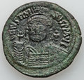 Ancients:Byzantine, Ancients: Justinian I (AD 527-565). Æ follis (22.76 gm)....