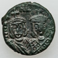 Ancients:Byzantine, Ancients: Michael II (AD 820-829) - Manuel I (AD 1143-1180). Lot oftwo (2) Æ coins.... (Total: 2 coins)
