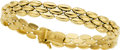 Estate Jewelry:Bracelets, A GOLD BRACELET. The 14k gold flexible link bracelet weighs 18.90grams.. Dimensions: 7 inches x 3/8 inch. PROPERTY FR...