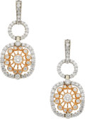 Estate Jewelry:Earrings, Jack Kelége Diamond, Gold Earrings. ...