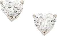 Tiffany & Co. Diamond, Platinum Earrings