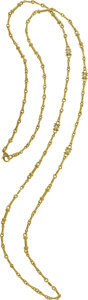 Estate Jewelry:Necklaces, Judith Ripka Diamond, 18k Gold Necklace. ...