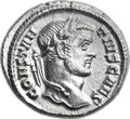 Ancients:Roman Imperial, Ancients: Constantius I as Caesar (AD 293-305). AR argenteus (18mm,3.30 gm, 12h). ...