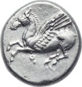 Ancients:Greek, Ancients: CORINTHIA. Corinth. Ca. 375-300 BC. AR stater (21mm, 8.53gm, 3h). ...