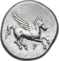 Ancients:Greek, Ancients: CORINTHIA. Corinth. Ca. 375-300 BC. AR stater (22mm, 8.55gm, 9h). ...