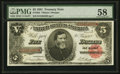Large Size:Treasury Notes, Fr. 363 $5 1891 Treasury Note PMG Choice About Unc 58.. ...