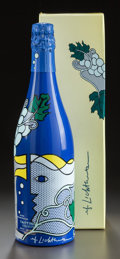 Fine Art - Sculpture, American:Contemporary (1950 to present), ROY LICHTENSTEIN (American, 1923-1997). Bouteille de champagneTaittinger, 1985. Screenprint on polyester over glass bot...(Total: 2 Items)