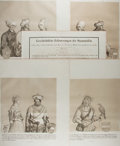 Art:Illustration Art - Mainstream, [Lithographs]. Group of Four German Portraits. N.d. Measures 19 X26.25 inches. Includes portraits of Rudolph IV, Fridich II...