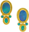 Estate Jewelry:Earrings, Gurhan Opal, Gold Earrings. ...