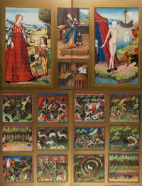 """[Illustration]. Group of Two Chromolithographs. N.d. Features Comte Phebus' """"Hunting Scenes"""" and images of &qu..."""