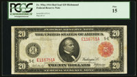 Fr. 956a $20 1914 Red Seal Federal Reserve Note PCGS Fine 15