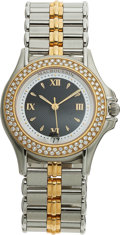 Estate Jewelry:Watches, Mauboussin Lady's Diamond, Gold, Stainless Steel Wristwatch. ...