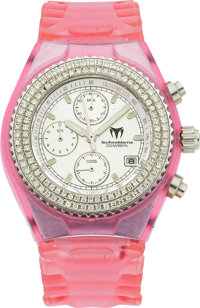"TechnoMarine Lady's Diamond, Stainless Steel ""TechnoDiamond"" Wristwatch"