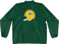 Football Collectibles:Uniforms, 1980's Green Bay Packers Game Worn Sideline Jacket....