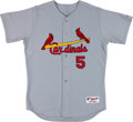 Baseball Collectibles:Uniforms, Late 2000's Albert Pujols Signed St. Louis Cardinals Game IssuedJersey. ...