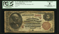 National Bank Notes:Wyoming, Cheyenne, WY - $5 1882 Brown Back Fr. 477 The Stock Growers NB Ch.# (W)2652. ...