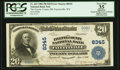 National Bank Notes:West Virginia, Fayetteville, WV - $20 1902 Plain Back Fr. 652 The Fayette County NB Ch. # 8345. ...