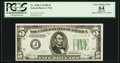 Small Size:Federal Reserve Notes, Fr. 1958-J $5 1934B Federal Reserve Note. PCGS Apparent Very Choice New 64.. ...