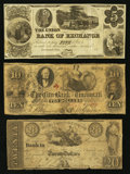 Obsoletes By State:Ohio, Cincinnati, OH Obsolete Bank Note Group Fine and Better ThreeExamples.. ... (Total: 3 notes)