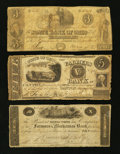 Obsoletes By State:Ohio, Ohio Obsolete Bank Note Group Very Good Three Examples.. ...(Total: 3 items)