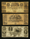 Obsoletes By State:Ohio, Ohio Obsolete Bank Note Group Fine and Better Three Examples.. ...(Total: 3 notes)