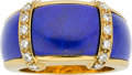 Estate Jewelry:Rings, Van Cleef & Arpels Lapis Lazuli, Diamond, 18k Gold Ring . ...