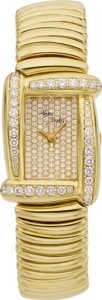 "Estate Jewelry:Watches, Henry Dunay Lady's Diamond, Gold ""Sabi"" Wristwatch. ..."