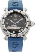 "Estate Jewelry:Watches, Chopard Lady's Diamond, Stainless Steel ""Happy Sport Queen Mary 2Exclusive"" Wristwatch. ..."