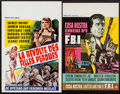 "Movie Posters:Bad Girl, House of Women & Other Lot (Warner Brothers, 1962). Belgians(2) (14"" X 21.5"", 13.25"" X 20.5""). Bad Girl.. ... (Total: 2 Items)"