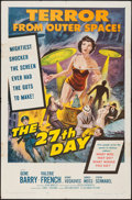 "Movie Posters:Science Fiction, The 27th Day (Columbia, 1957). One Sheet (27"" X 41""). ScienceFiction.. ..."