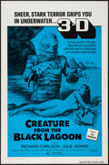 """Movie Posters:Horror, Creature from the Black Lagoon (Universal International, R-1972). One Sheet (27"""" X 41"""") 3-D Style. Horror.. ..."""