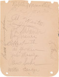 Baseball Collectibles:Others, Circa 1930's Baseball Stars and HOFers Multi Signed Album Sheet....