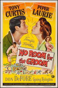 """No Room for the Groom (Universal, 1952). One Sheet (27"""" X 41"""") & Lobby Card Set of 8 (11"""" X 14"""")..."""